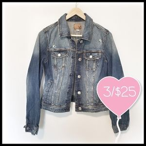 ⭐3/$25⭐American Eagle Distressed Jean Jacket